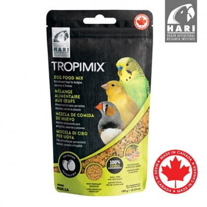 Hari Tropimix Premium Quality Egg Food Mix For Budgies, Canaries and Finches, 185g