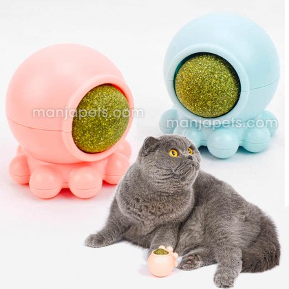 Quality Catnip Toy Ball Octopus Shaped Toy Ball Teeth Cleaner Cat