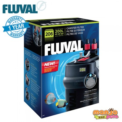Fluval 206 Canister Filter (1 Year Warranty)