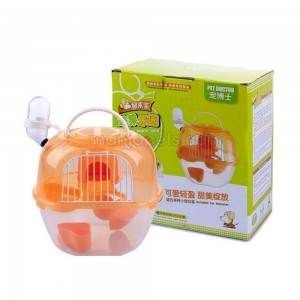 Apple Hamster Cage House Luxury Hamster Cage (7.4 x 6.3 x 7.4inch)