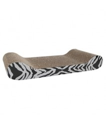 Catit Style Patterned Cat Scratcher with Catnip - White Tiger - Lounge