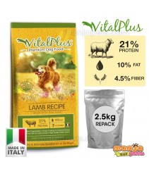 VitalPlus Repack Lamb Premium Dog Food 2.5kg [MADE IN ITALY]