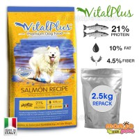 VitalPlus Repack Salmon Premium Dog Food 2.5kg [MADE IN ITALY]