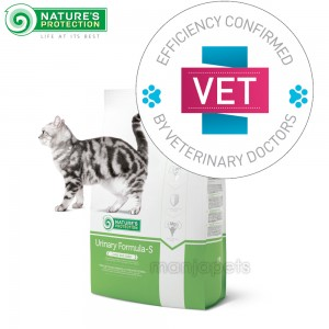 Nature's Protection Urinary Formula-S VET Pet Food For Adult Cats - 2kg, 7kg