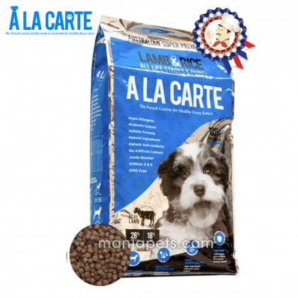 New! Ala Carte Lamb & Rice 18KG All Life Stages (PUPPY, SMALL TO MEDIUM BREEDS)