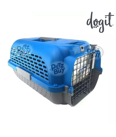 Dogit Voyageur Dog Carrier - Dark Blue/Charcoal - Small