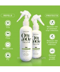 Outdoor Shield Repellent + Sanitizer with Citronella & Lemongrass Essential Oil