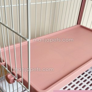 Luxury Pet Crates Cage Chinchilla Ferret Rabbit Small Animals 2 Level Double Pull Out Tray Urine Guard Rabbit Cage