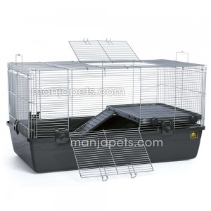Universal Small Animal Pet Crates Cage Chinchilla Ferret Rabbit Syrian Hedgehog Guinea Pig Home, Dark Gray