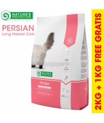 [2KG + 1KG] Nature's Protection PERSIAN Complete Pet Food For Adult Long Haired Cat