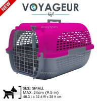 New Dogit Voyageur Dog Carrier - Fuchsia/Charcoal - Small - 48.3 cm L x 32.6 cm W x 28 cm H
